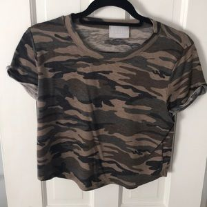 Small Short Sleeve - crop top style Camo design